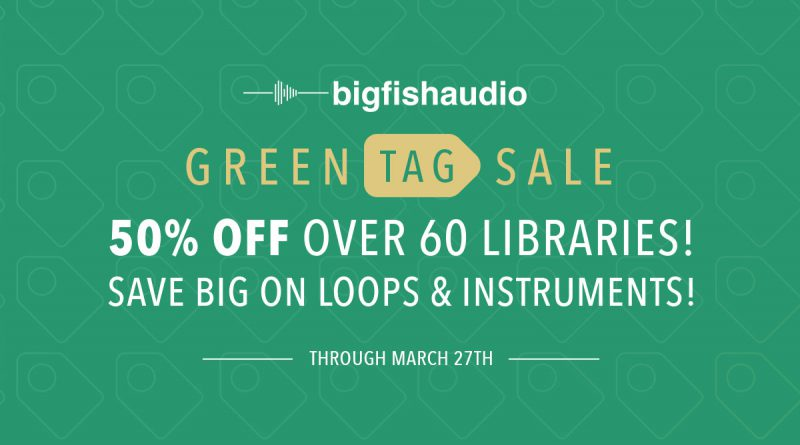 Big Fish Audio Green Tag Sale 2019