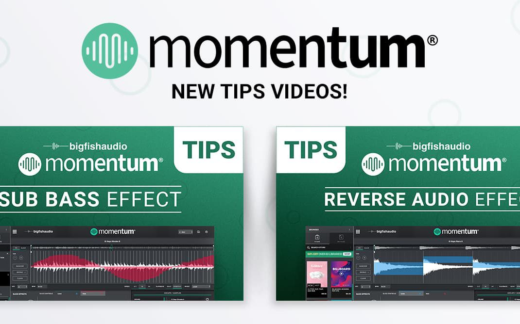 Momentum Tips Videos From Big Fish Audio